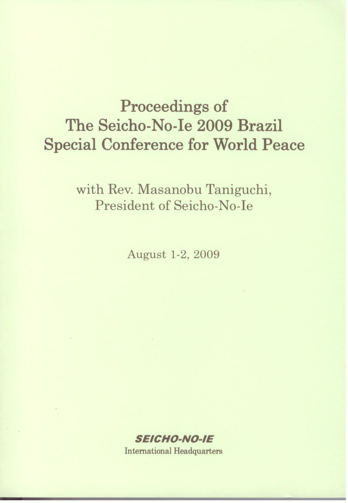 Proceedings 2009